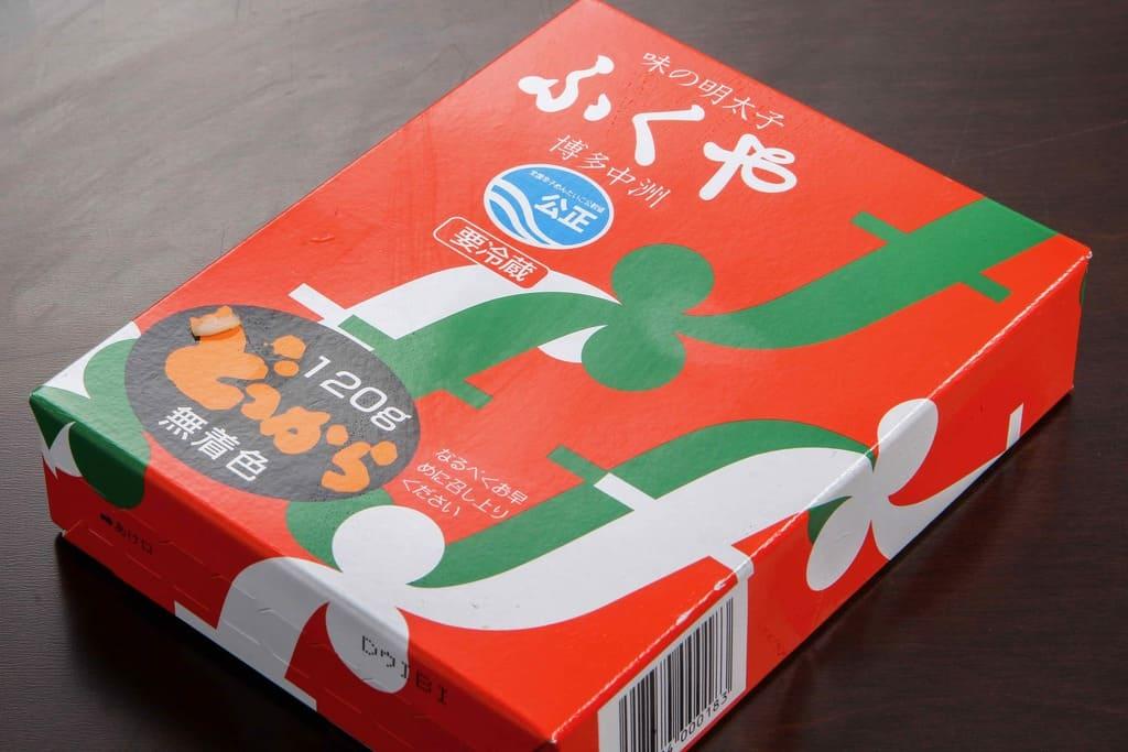 福岡県ふくやの味の明太子どっからの箱、ふくやの通販辛子明太子