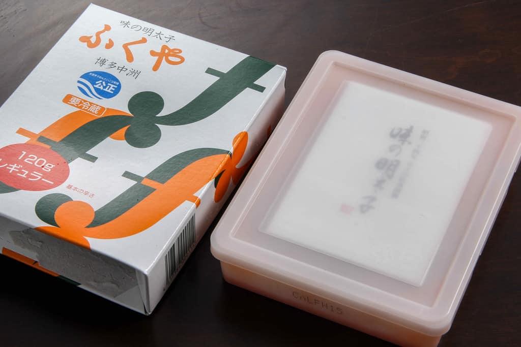 ふくやの味の明太子レギュラーのパッケージ