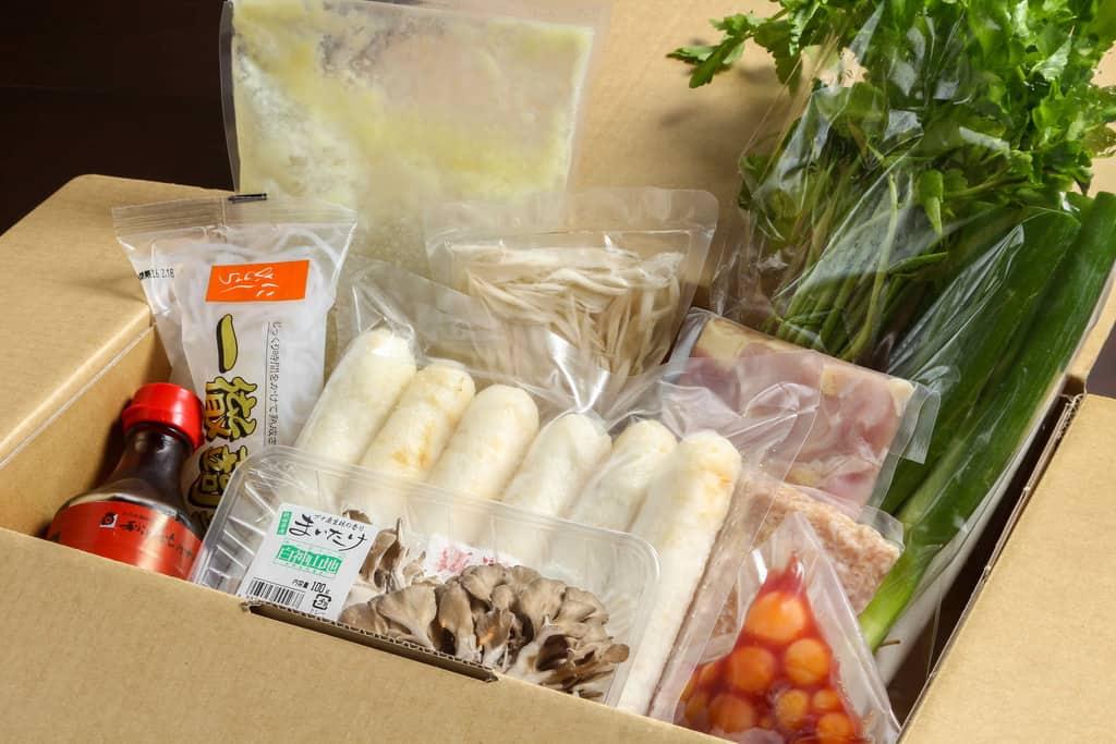 秋田比内やの通販・お取り寄せきりたんぽ鍋セット、鍋料理