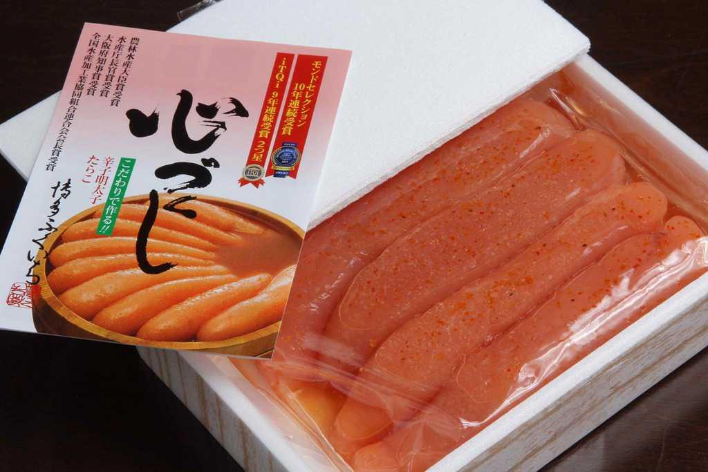 博多ふくいちの辛子明太子150gのパッケージ、お取り寄せ辛子明太子、通販辛子明太子