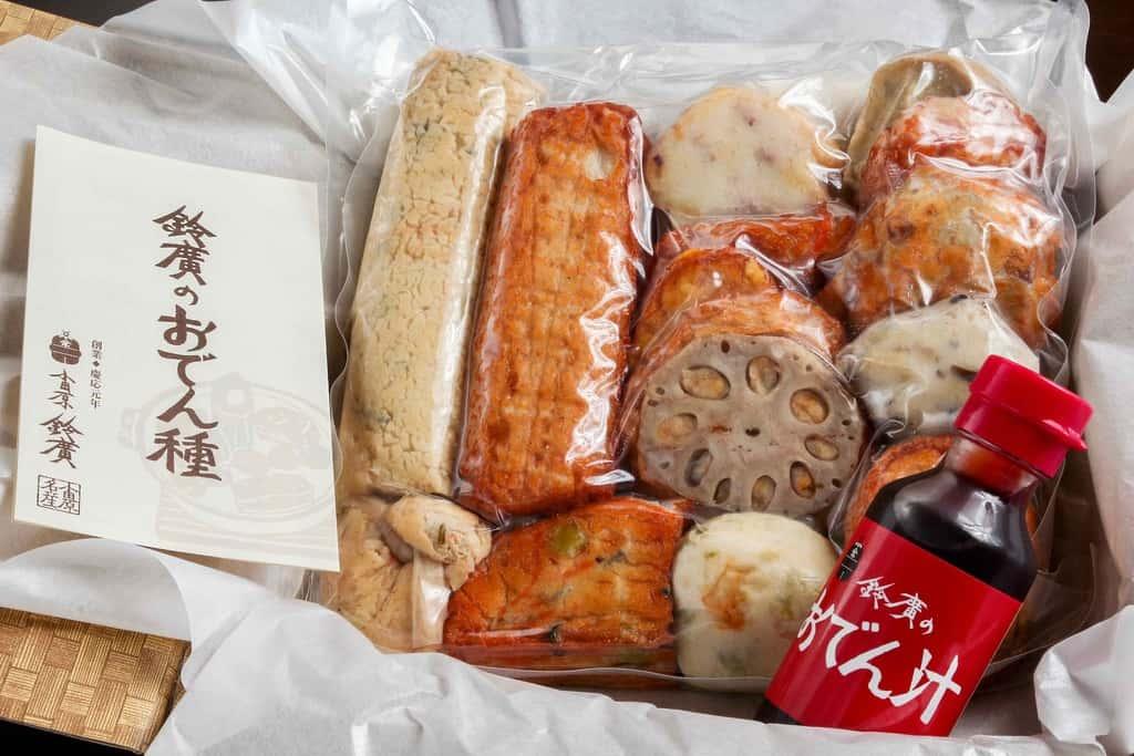 鈴廣かまぼこの通販・お取り寄せ手作りおでん鍋の具、パックに入ったおでん種