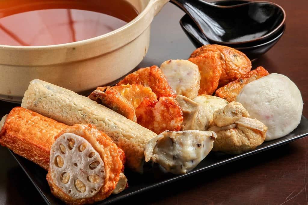 鈴廣かまぼこの通販・お取り寄せ手作りおでん鍋のおでん種、小田原鈴廣のおでん用カマボコ