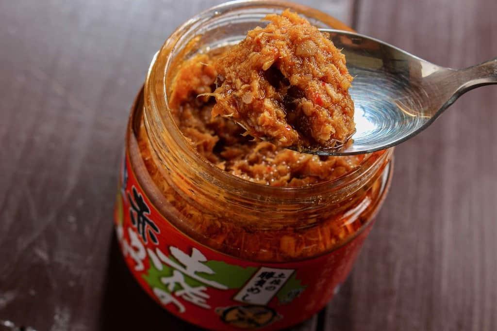 上町池澤本店の土佐の赤かつお(にんにく味)、ご飯のおとも、めし友