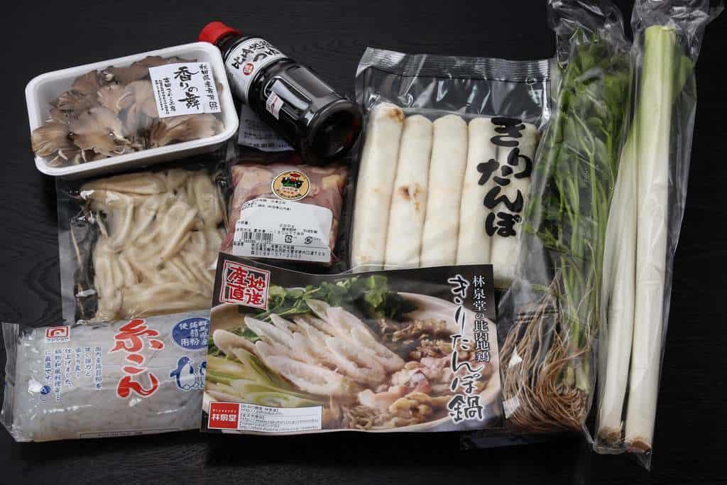 お取り寄せ鍋料理、秋田県にある林泉堂の比内地鶏きりたんぽ鍋セット3人前