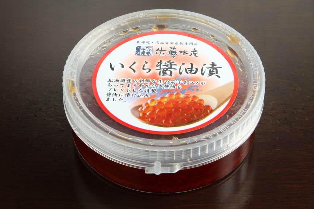 佐藤水産のいくら醤油漬110gパッケージ