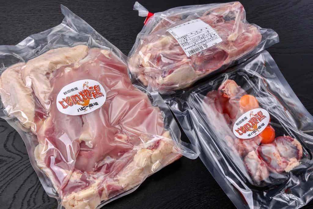 秋田県のハピー農場の比内地鶏生肉1羽分のパッケージ、通販・お取り寄せ比内地鶏