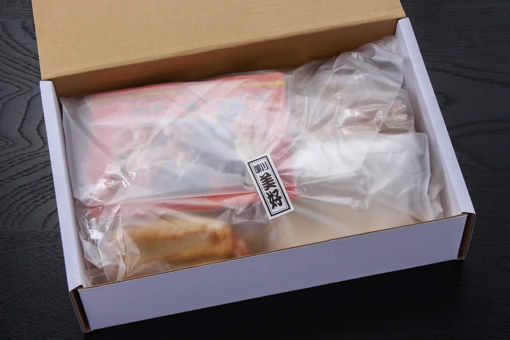 「おでん種の美好」のお取り寄せおでん種詰合せ<清澄・おでんの味>の箱の中身