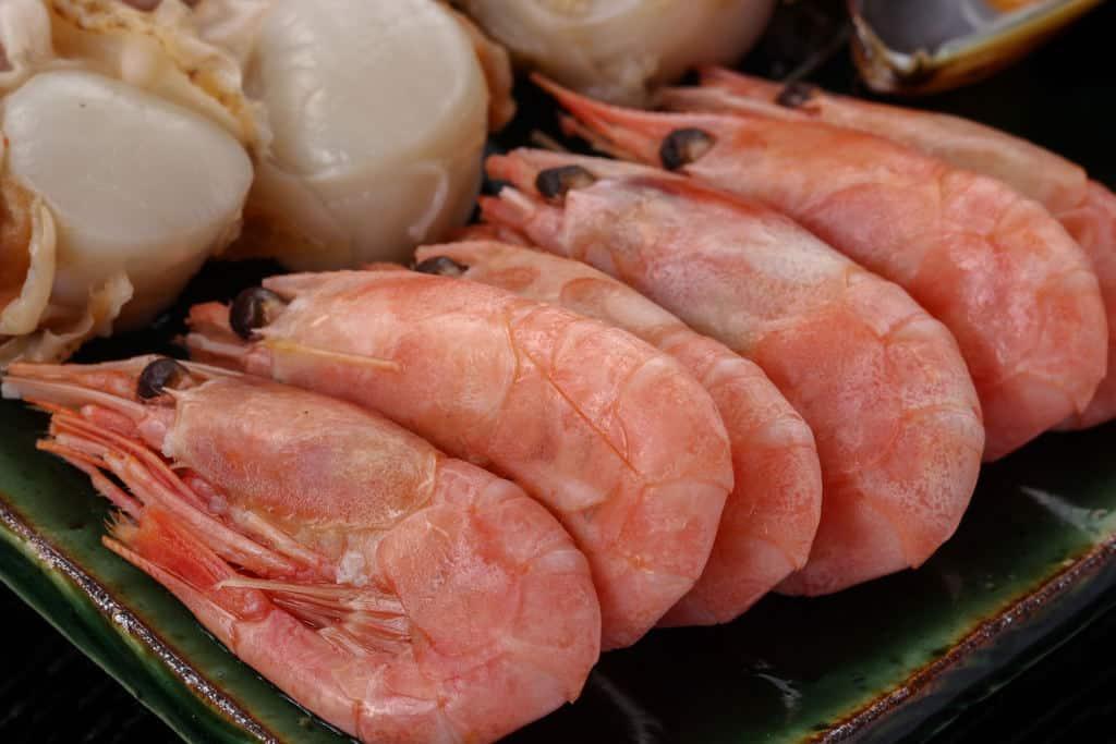 北海道石狩鍋に入れる海老