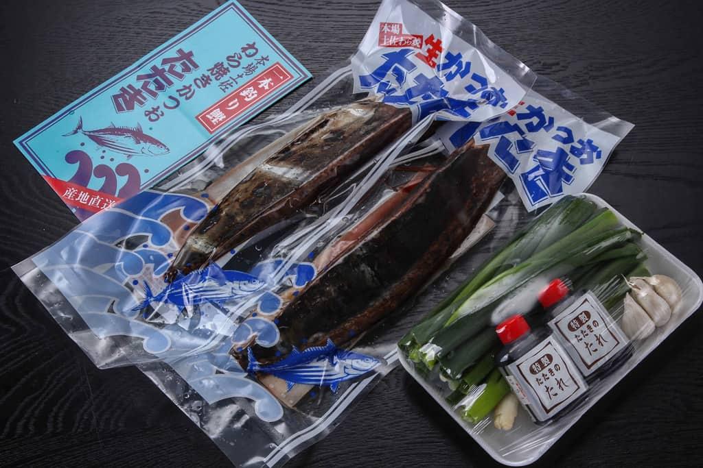 多田水産のわら焼き生鰹たたきSセットの内容
