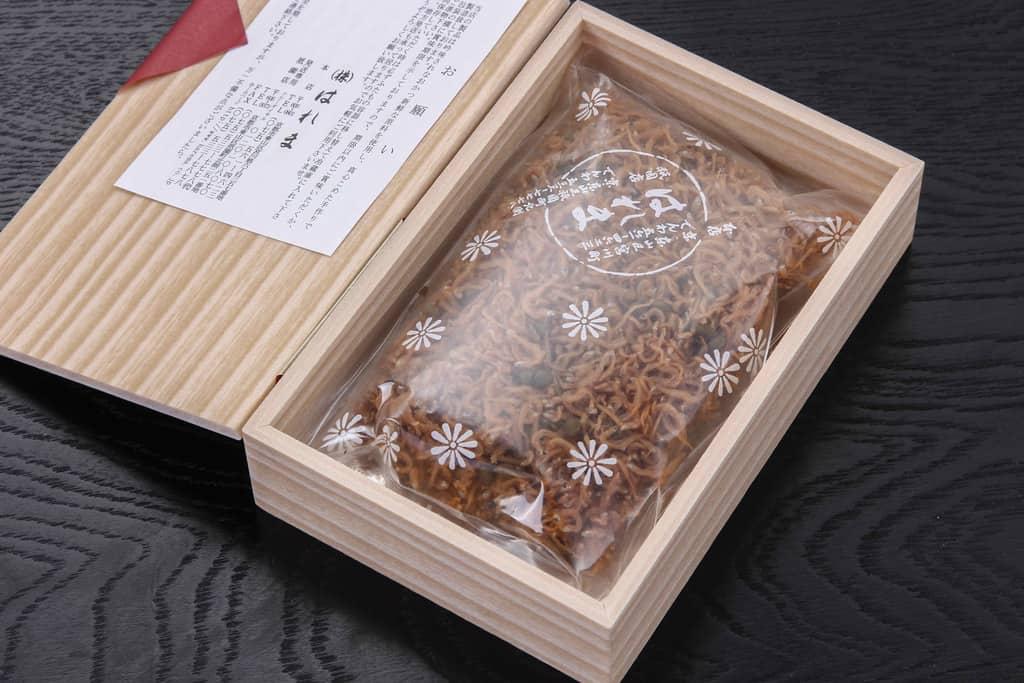 京都はれま「チリメン山椒」の箱の中身