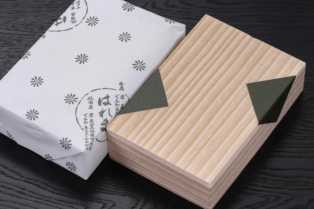 京都はれまの野菜昆布の包装紙と折詰