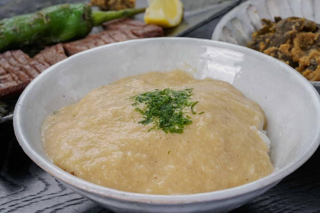 麦とろご飯・牛たん塩焼き・南蛮味噌漬け