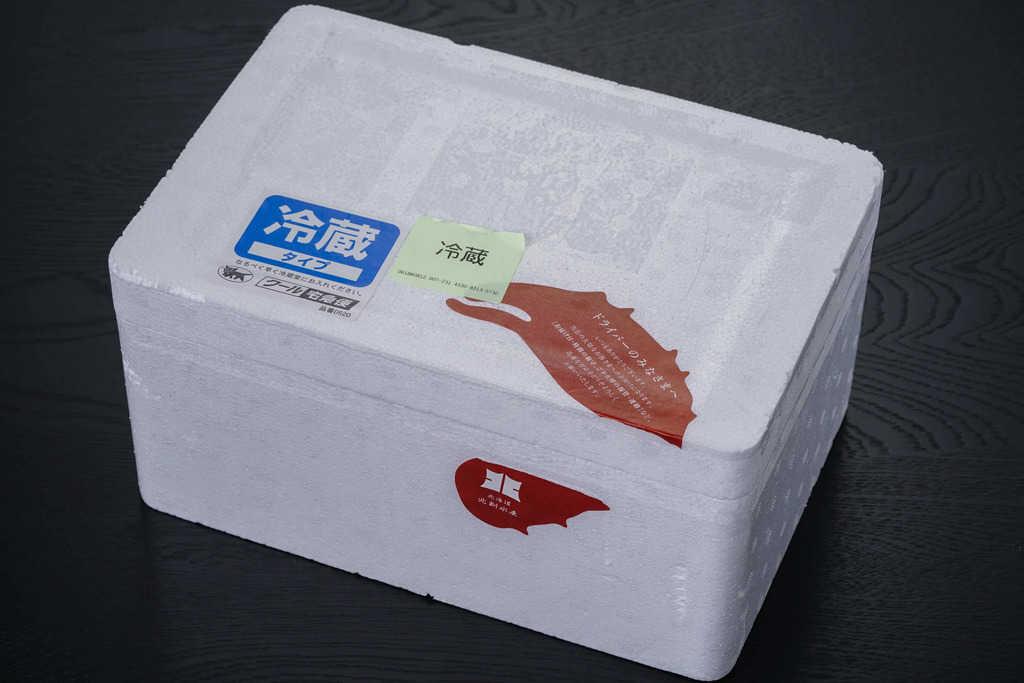 北釧水産から届いた発泡スチロール箱