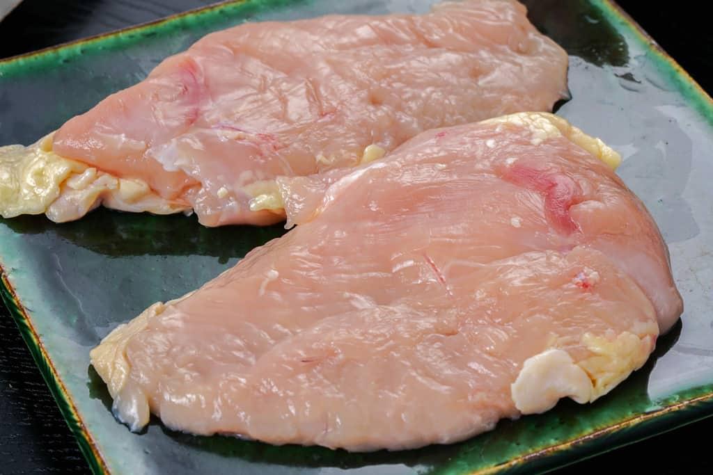 北垣商店から届いた地鶏「天草大王」の生ムネ肉2枚