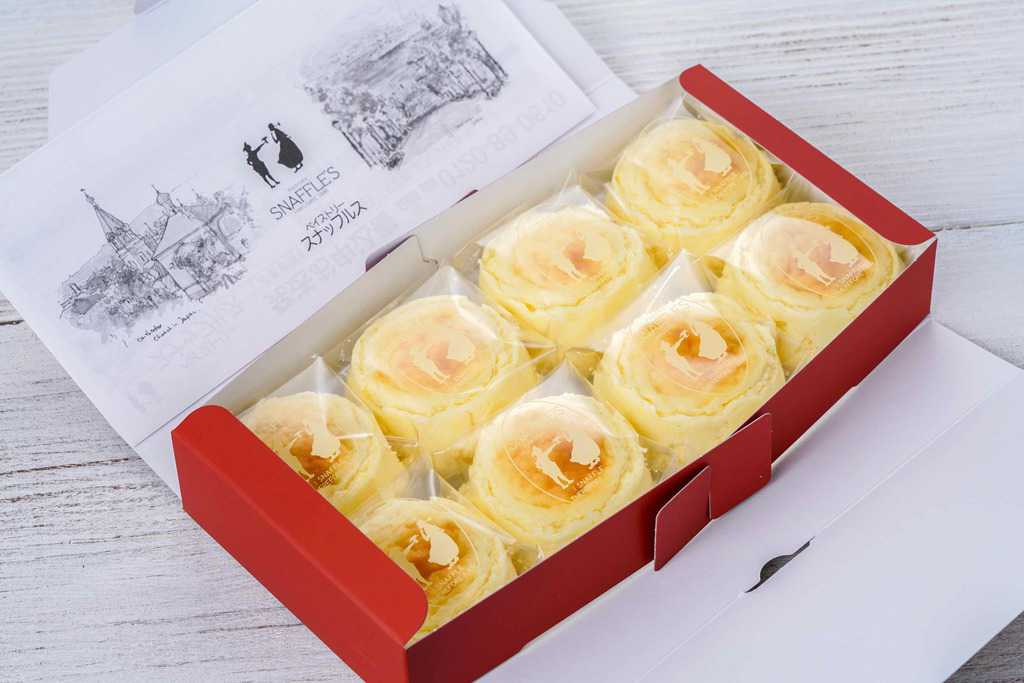 箱に入ったペイストリースナッフルスのチーズオムレット8個、通販・お取り寄せ北海道スイーツ