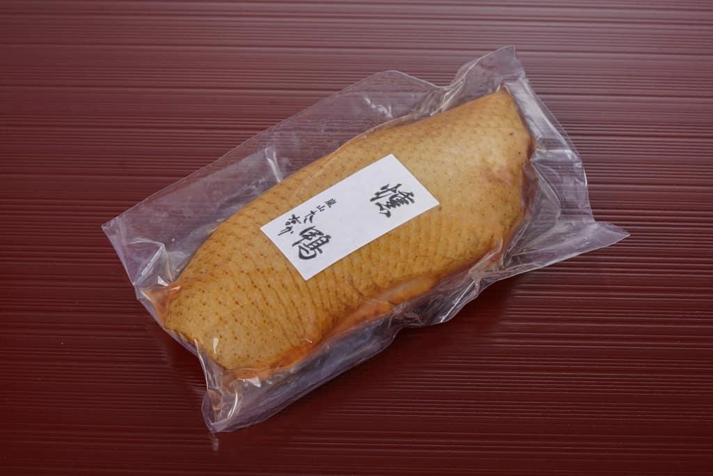 嵐山たなかの合鴨スモーク(ロース肉)パッケージ