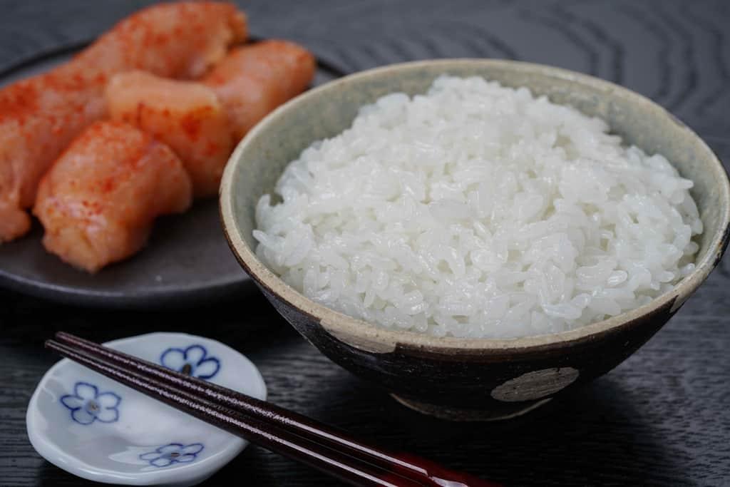 ご飯・藻塩辛子明太子・箸置き・箸