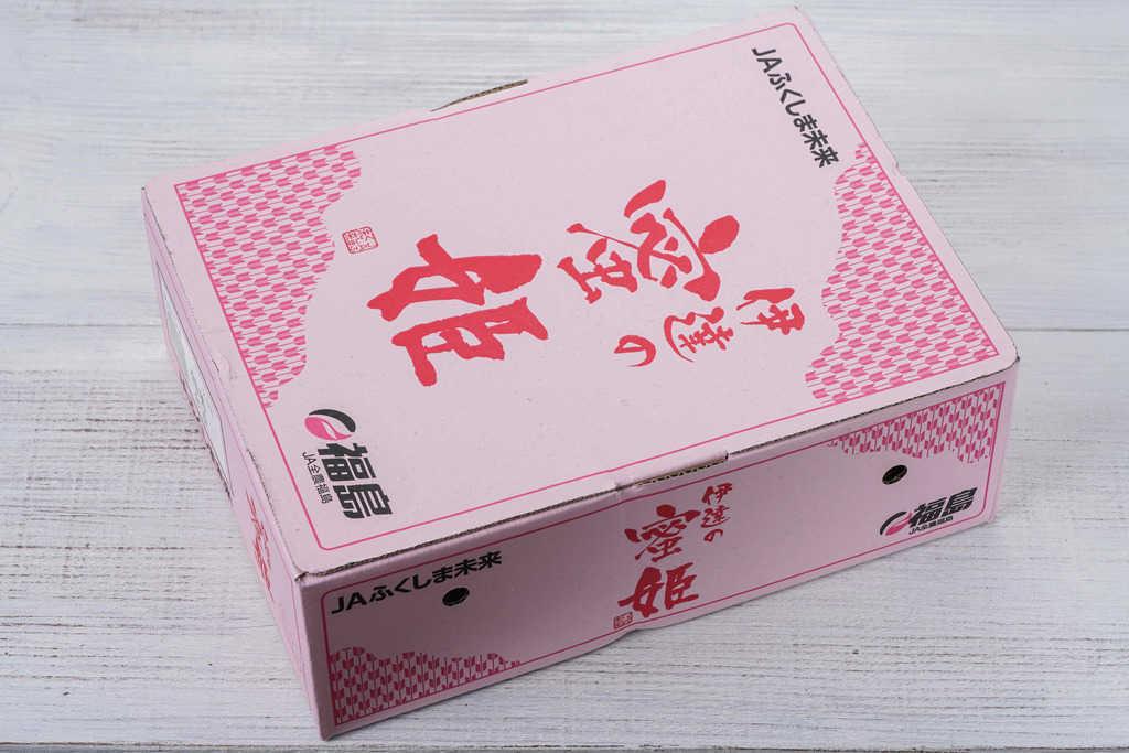 JAふくしま未来の桃「伊達の蜜姫」の箱