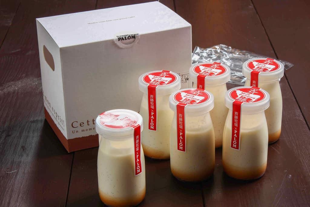 札幌スイーツガーデン「パロム」の斉藤牧場牛乳プリン6個セット、北海道のお取り寄せプリン