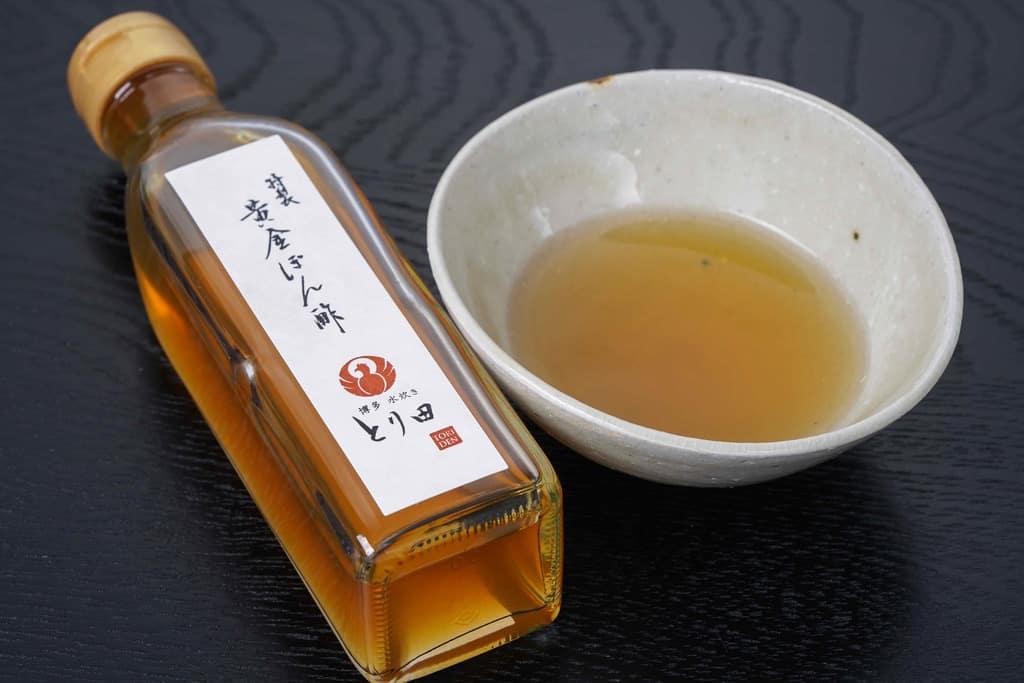 博多とり田水炊き鍋セットの黄金ぽん酢