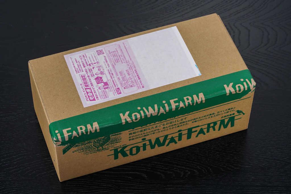 小岩井農場からお取り寄せした卵が入っていたい箱