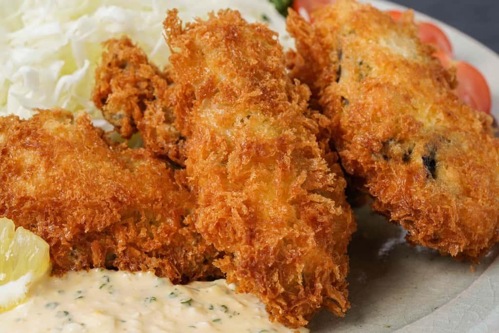 厚岸牡蠣で作るカキフライ、牡蠣フライ