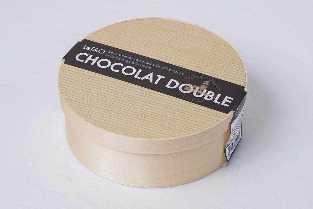 小樽洋菓子舗ルタオのショコラドゥーブル4号のパッケージ、通販・お取り寄せチーズケーキ