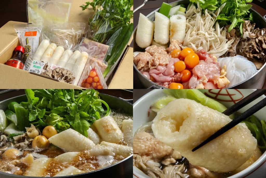 秋田比内やのお取り寄せきりたんぽ鍋セット3~4人前、通販きりたんぽ鍋、鍋料理、秋田名物