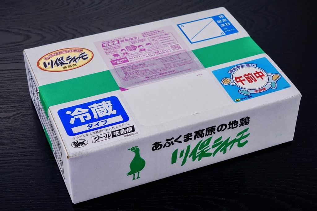 伊達の地鶏「川俣シャモ」の外装箱