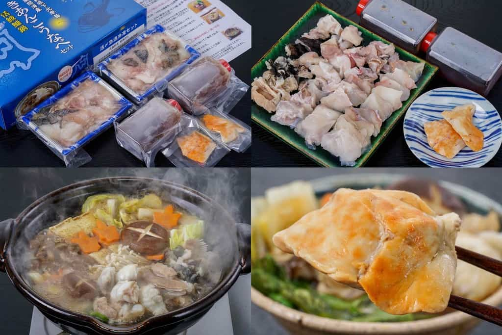 駒嶺商店のお取り寄せきあんこう鍋セット、通販鍋料理、あんこう鍋、鮟鱇鍋
