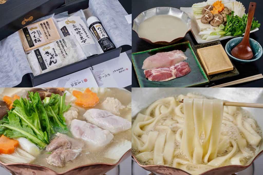 三和のお取り寄せ純鶏名古屋コーチン水炊き鍋セット、通販水炊き鍋、お取り寄せ鍋料理