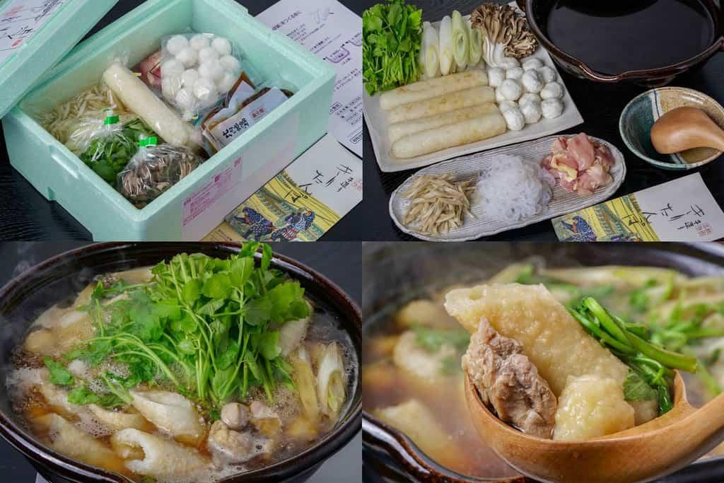 秋田名物きりたんぽ鍋、佐田商店のきりたんぽ鍋セット、お取り寄せ鍋料理、通販きりたんぽ鍋