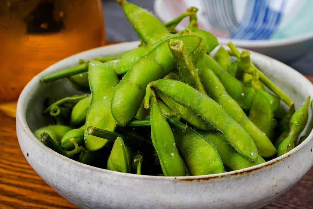 茹で枝豆、はねっ娘会の茹で枝豆