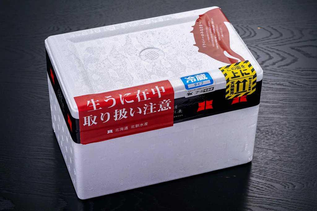 北釧水産の発泡スチロール箱