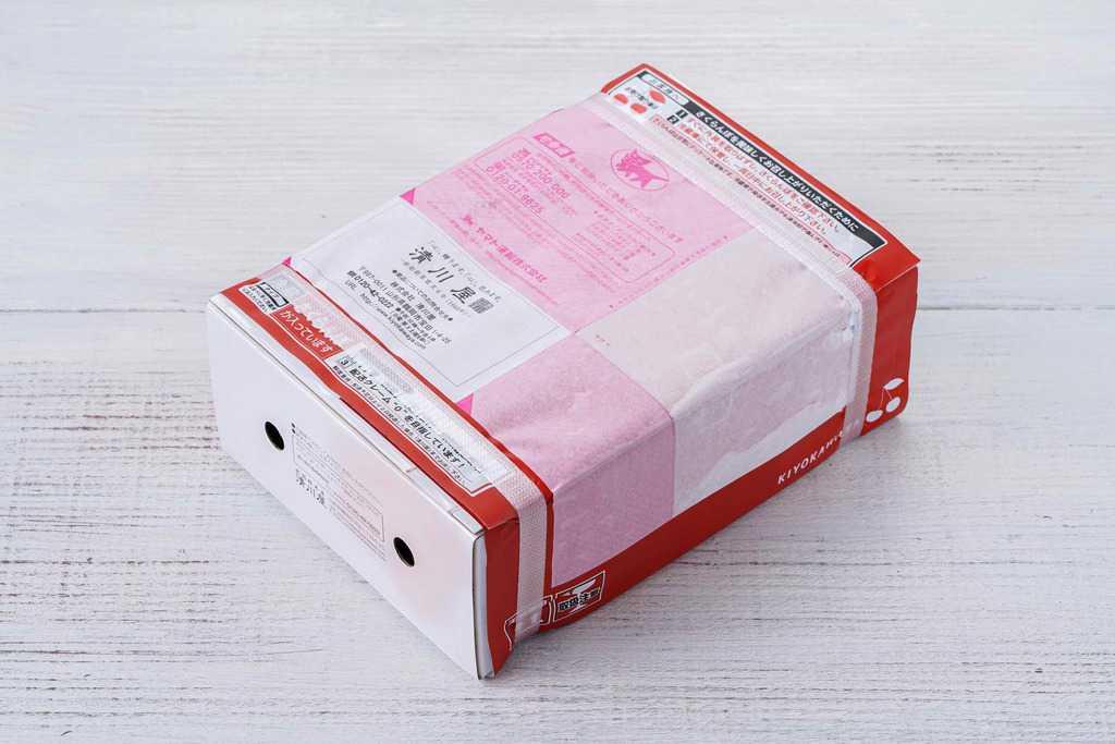 清川屋のお取り寄せサクランボが入った箱