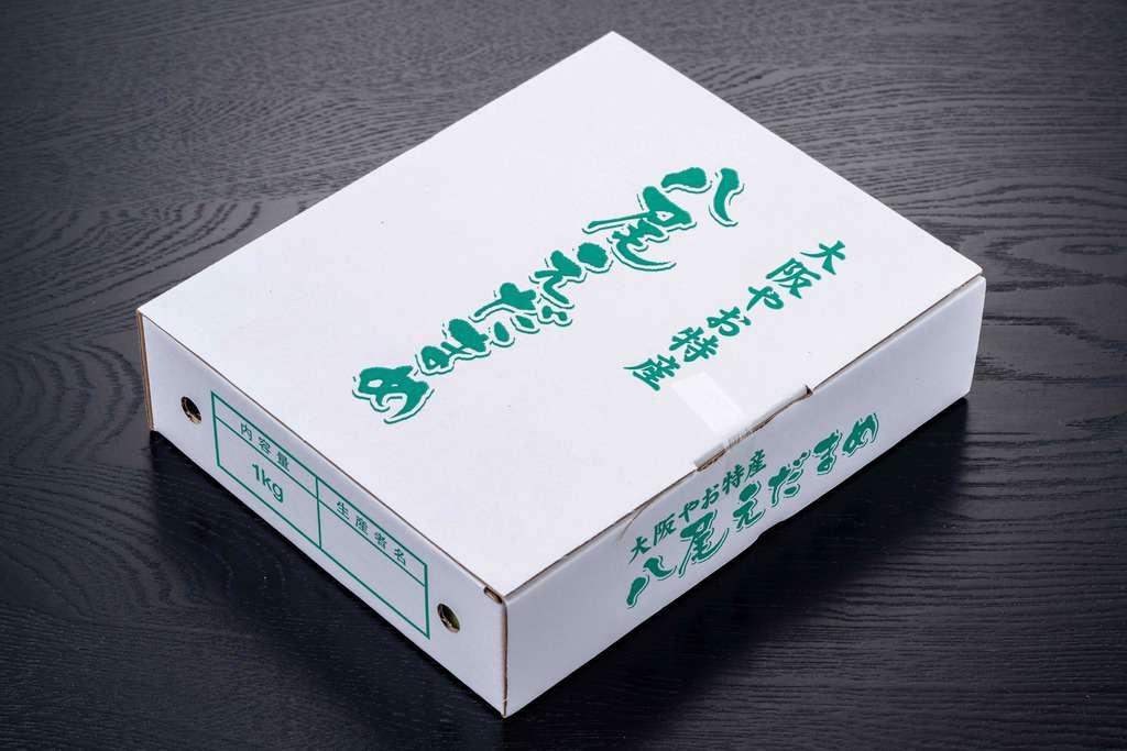 大阪府八尾市特産の「八尾えだまめ」の箱