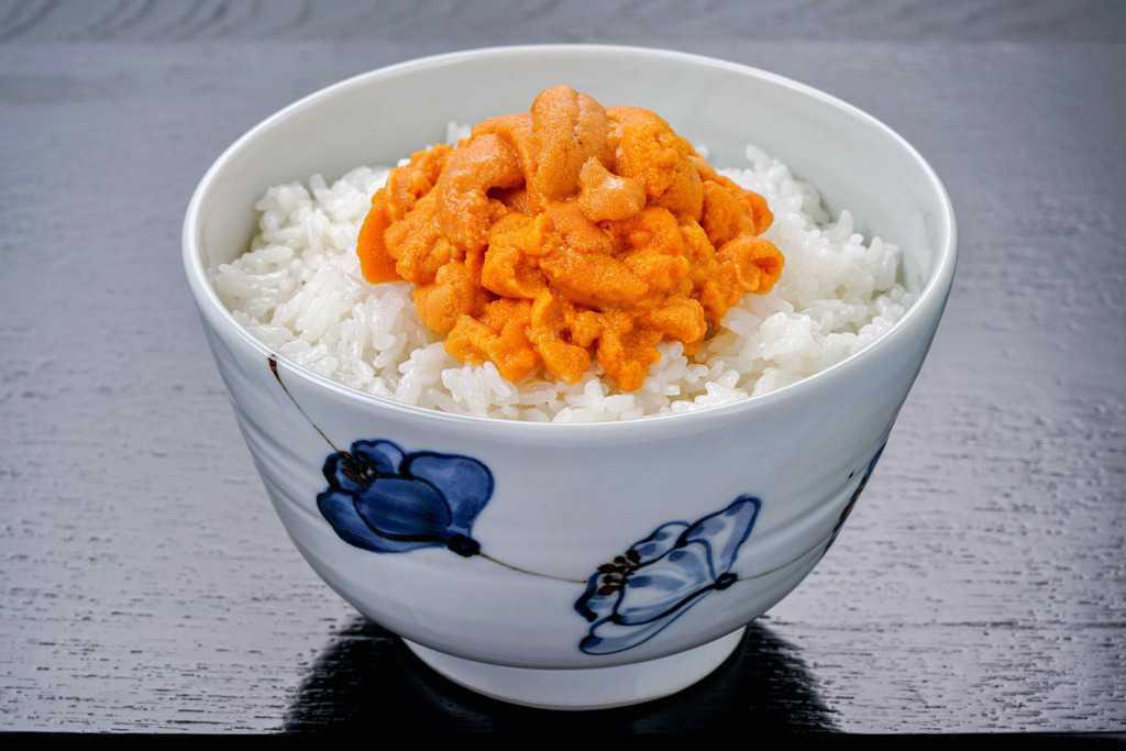 礼文島産の生エゾバフンウニ丼、生うに丼