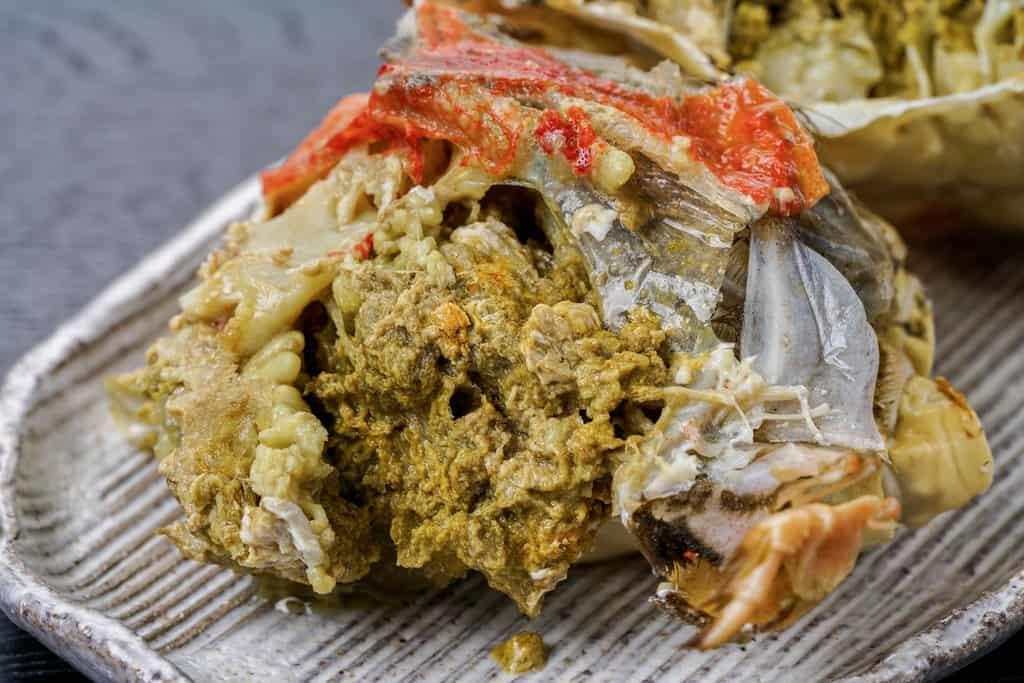 っぽろ高水のロシア産ズワイガニの蟹味噌、かにみそ