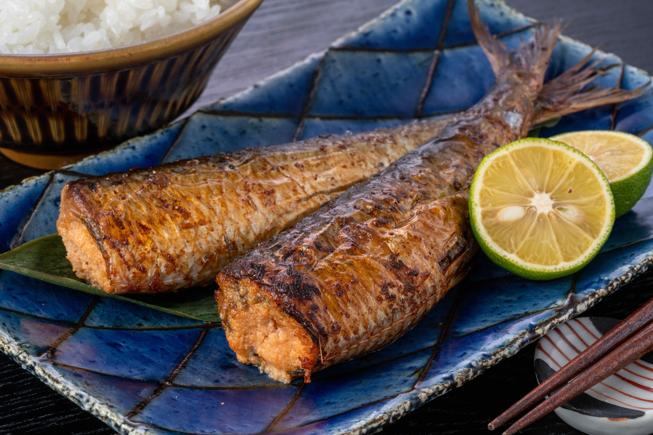 福岡の郷土料理いわし明太子2尾とかぼす、島本食品のお取り寄せいわし明太